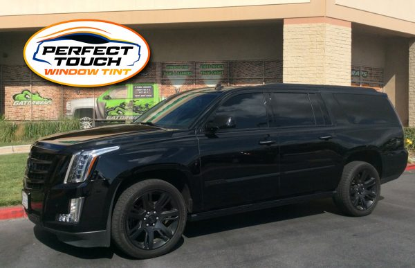 2019 Cadillac Escalade Window Tint and Chrome Delete