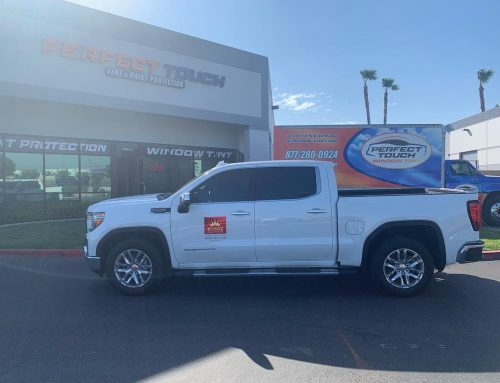 Thank you Brad for letting us tint your 2019 GMC Sierra with 3M window tint