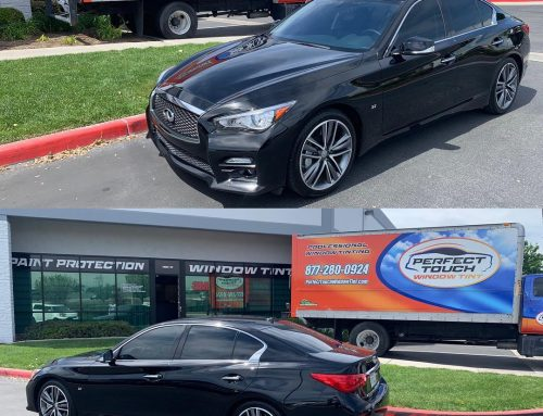 Thank you Kim for letting us tint your Infiniti Q50 with 3M Window film