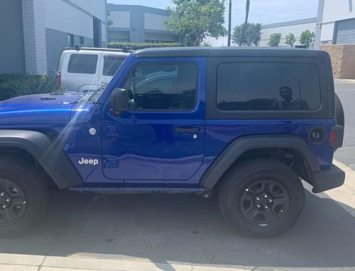 Thank you Brandon for letting us tint your  Jeep Wrangler with 3M window tint